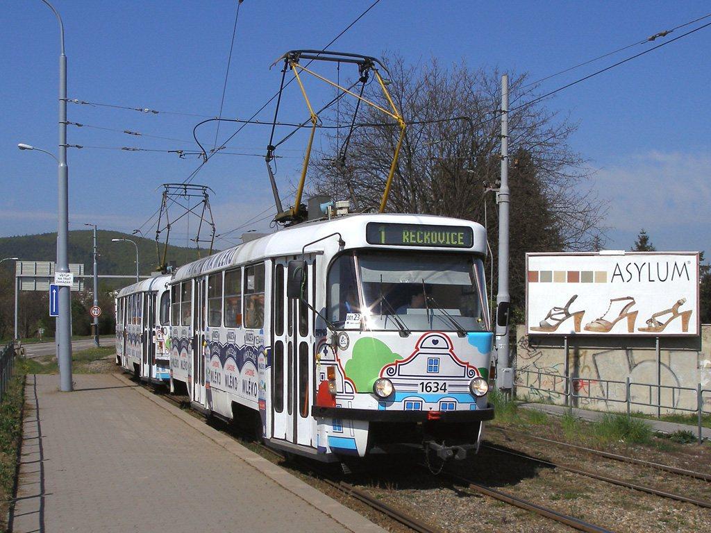 Fotogalerie » ČKD Tatra T3G 1634 | ČKD Tatra T3G 1616 | Brno | Žabovřesky | Kníničská | Stránského