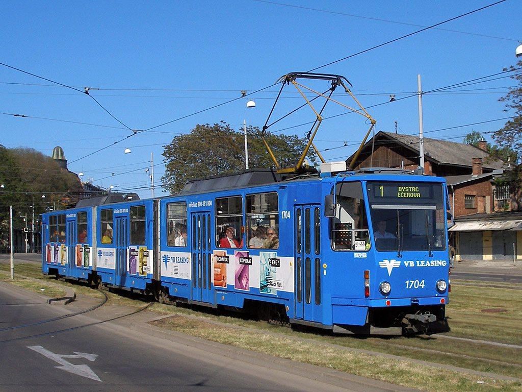 Fotogalerie » ČKD Tatra KT8D5 1704 | Brno | střed | Nové sady