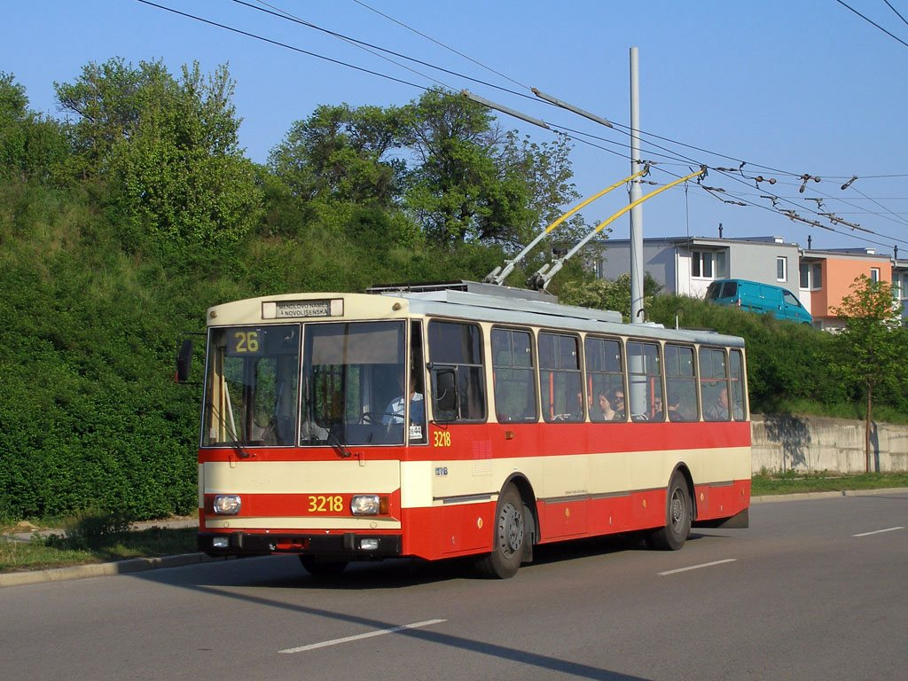 Fotogalerie » Škoda 14Tr08/6 3218 | Brno | Vinohrady | Věstonická