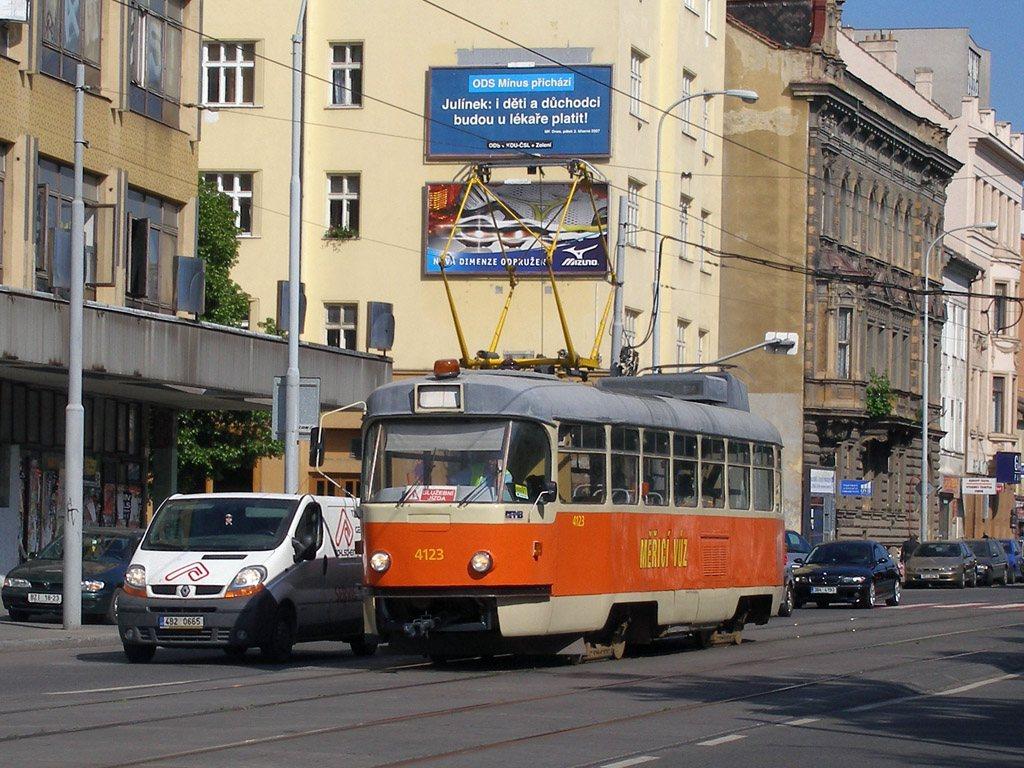 Fotogalerie » ČKD Tatra T3 služební 4123 | Brno | střed | Lidická