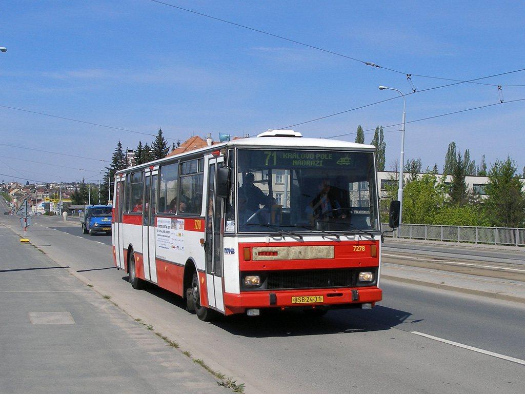 Fotogalerie » Karosa B732.40 7278   Brno   Královo Pole   Palackého třída