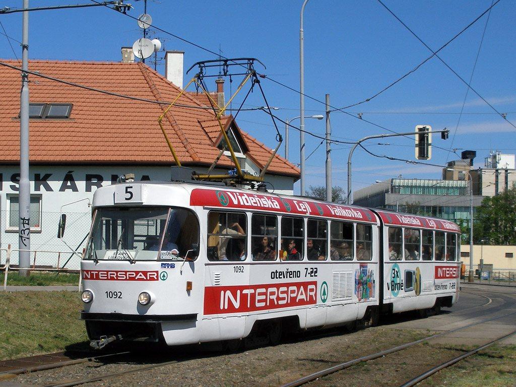 Fotogalerie » ČKD Tatra K2 1092 | Brno | Štýřice | Vídeňská