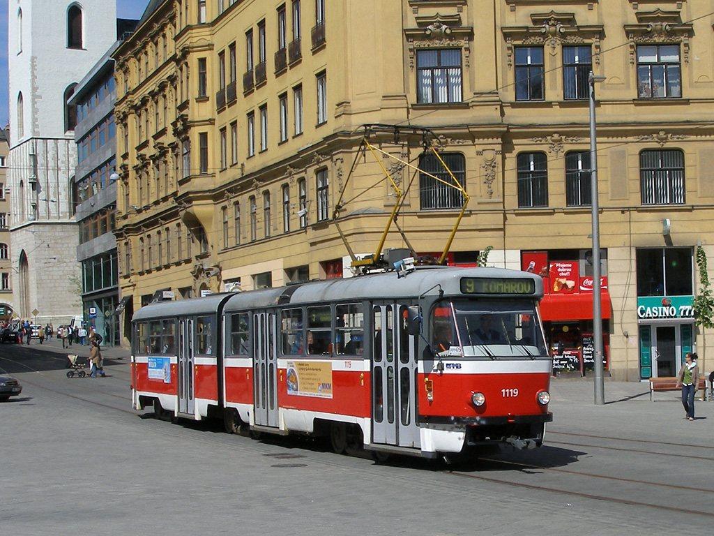 Fotogalerie » ČKD Tatra K2P 1119   Brno   střed   náměstí Svobody