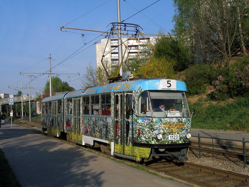 Fotogalerie » ČKD Tatra K2YU 1123   Brno   Bohunice   Švermova