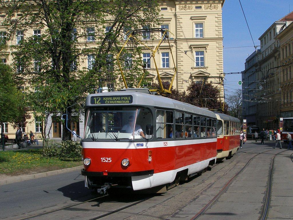 Fotogalerie » ČKD Tatra T3 1525 | ČKD Tatra T3 1556 | Brno | střed | Česká