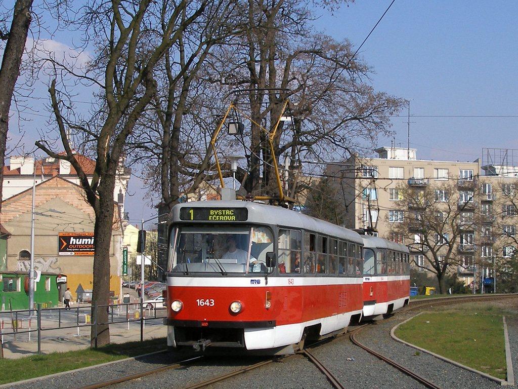 Fotogalerie » ČKD Tatra T3G 1643 | ČKD Tatra T3G 1644 | Brno | Staré Brno