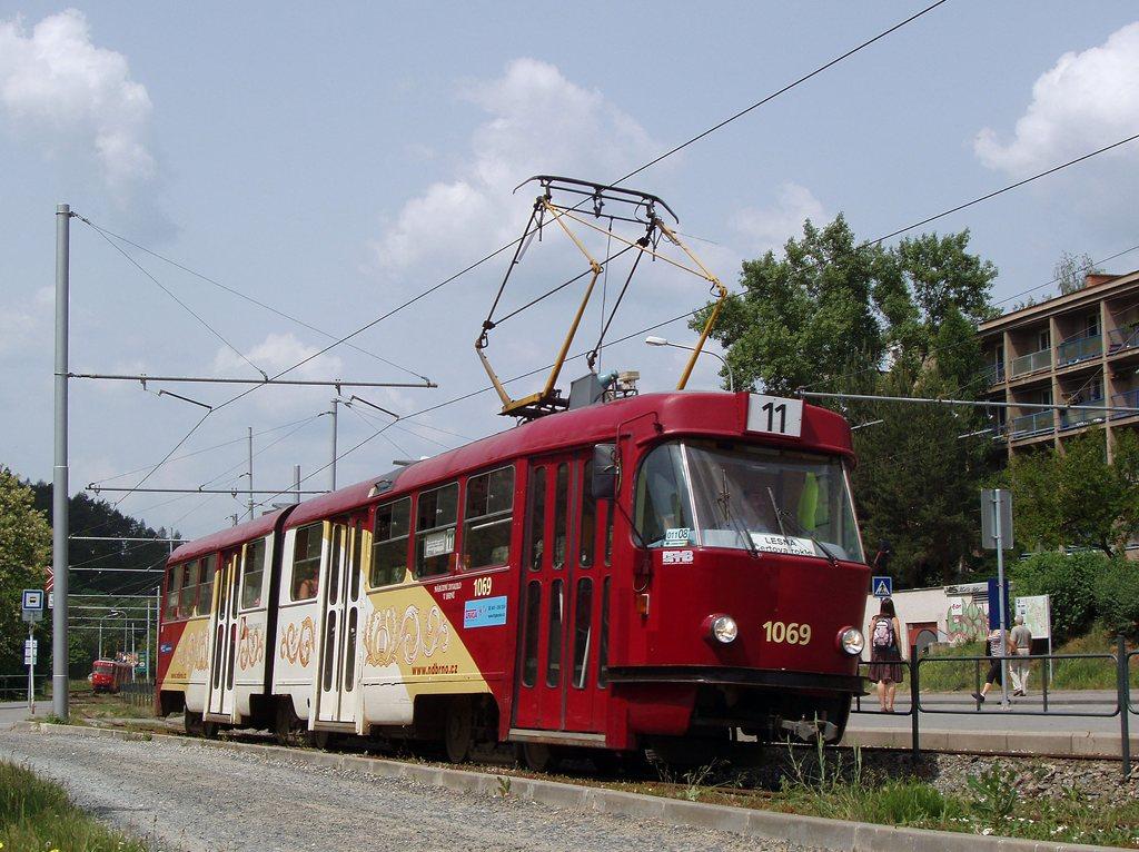 Fotogalerie » ČKD Tatra K2 1069 | Brno | Komín | Bystrcká | Podlesí