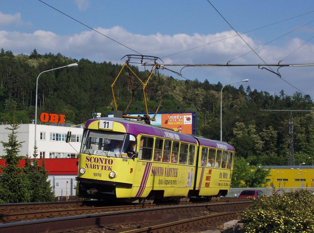 Fotogalerie » ČKD Tatra K2 1078 | Brno | Komín | Kníničská
