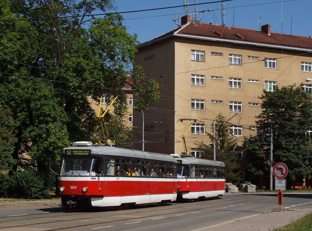 Fotogalerie » Pragoimex T3R.PV 1517 | Pragoimex T3R.PV 1558 | Brno | Žabovřesky | Kounicova