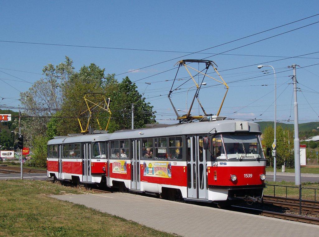 Fotogalerie » ČKD Tatra T3 1539 | ČKD Tatra T3 1598 | Brno | Komín | Kníničská | Kamenolom