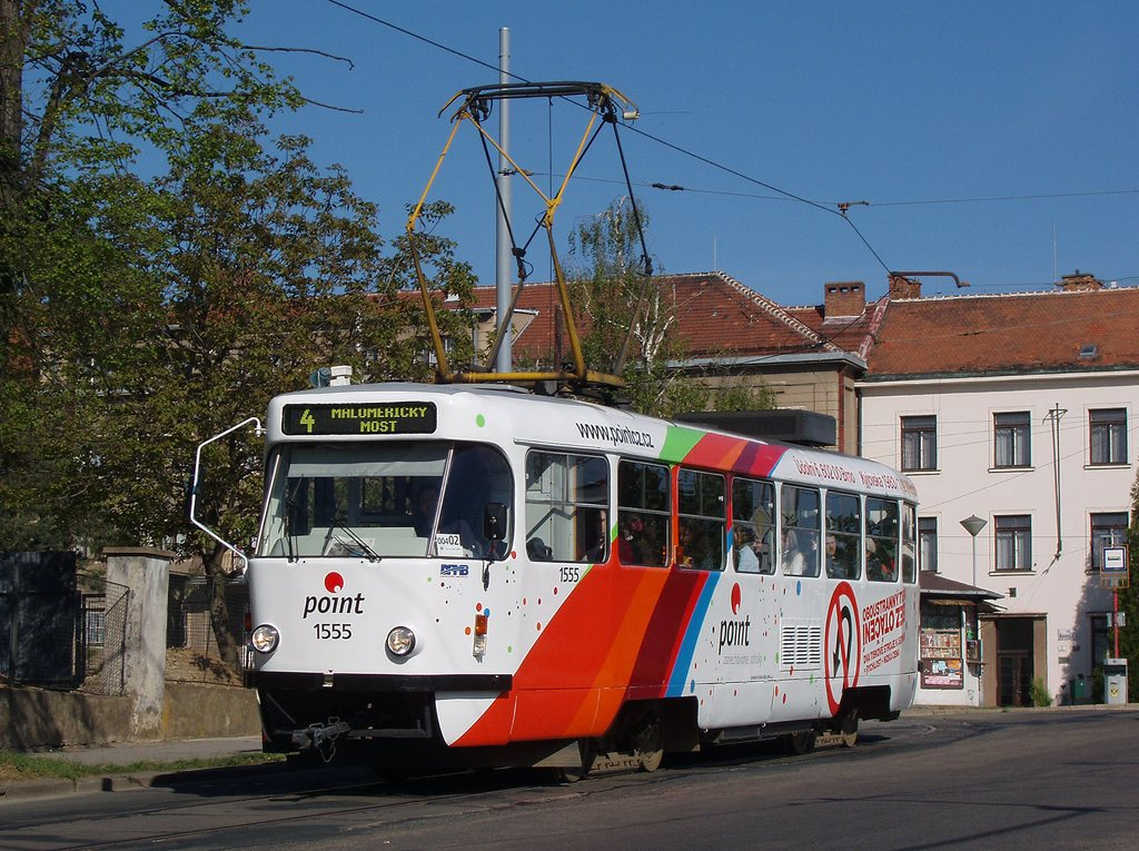 Fotogalerie » ČKD Tatra T3M 1555   Brno   Masarykova Čtvrť   náměstí Míru