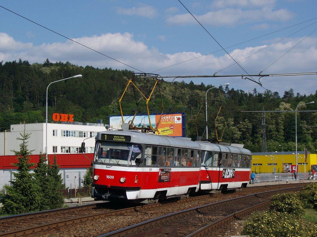 Fotogalerie » ČKD Tatra T3G 1609   ČKD Tatra T3G 1621   Brno   Komín   Kníničská
