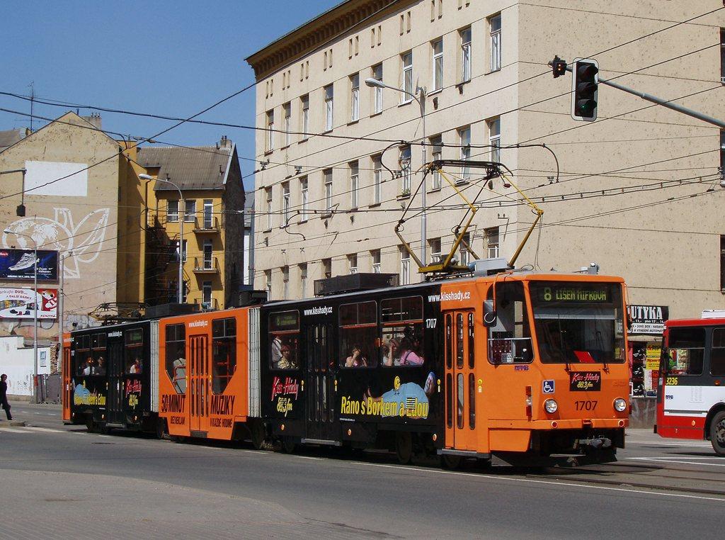 Fotogalerie » ČKD Tatra KT8D5R.N2 1707 | Brno | Trnitá | Křenová