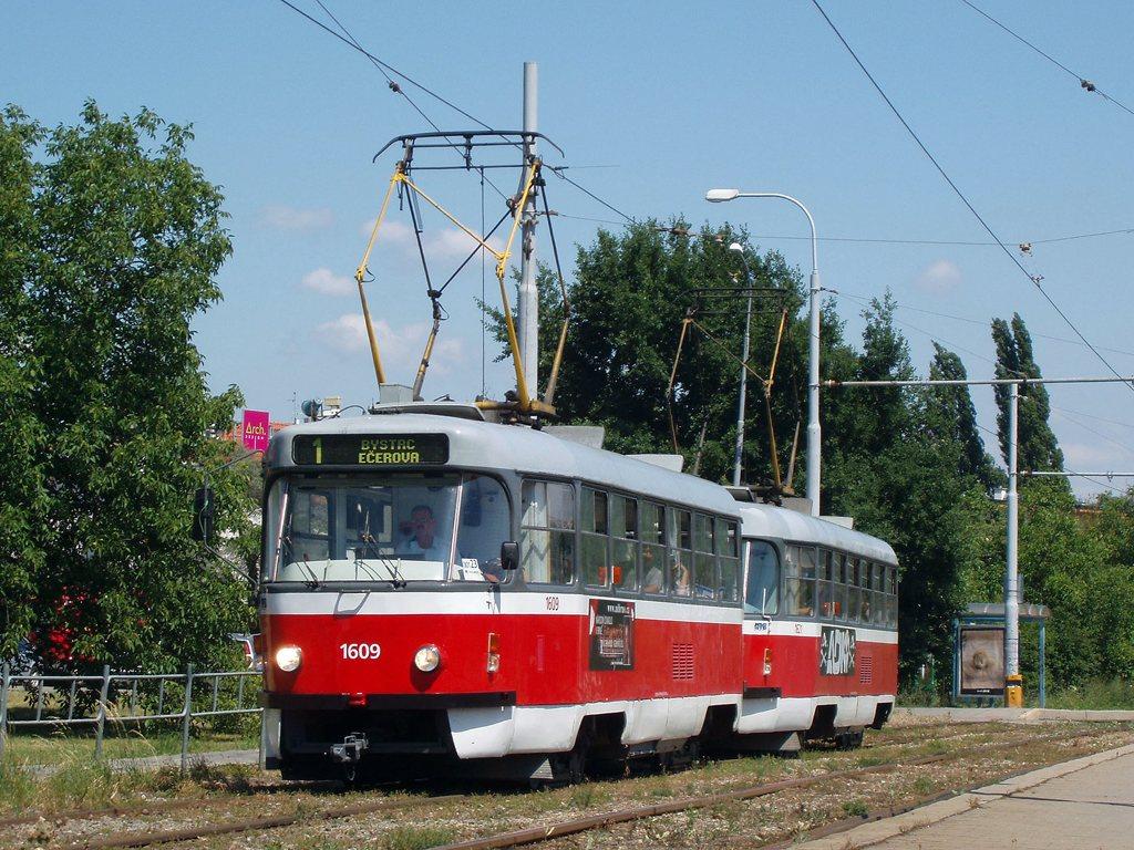 Fotogalerie » ČKD Tatra T3G 1609   ČKD Tatra T3G 1621   Brno   Žabovřesky   Kníničská   Stránského