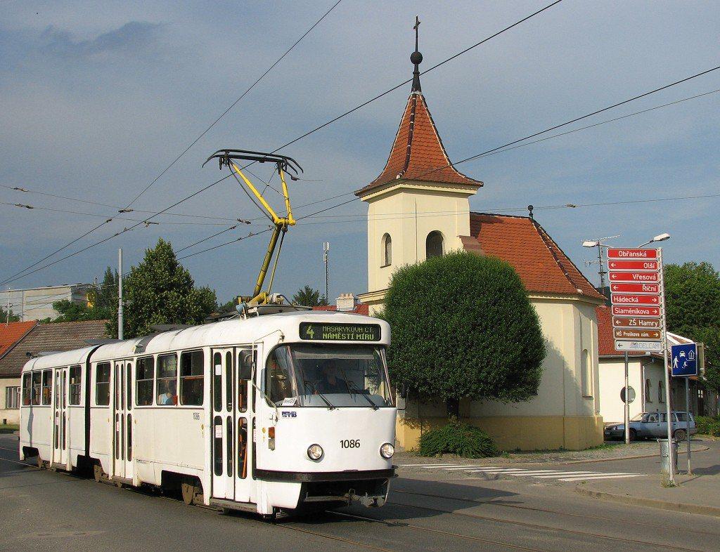Fotogalerie » ČKD Tatra K2P 1086   Brno   Maloměřice   Obřanská