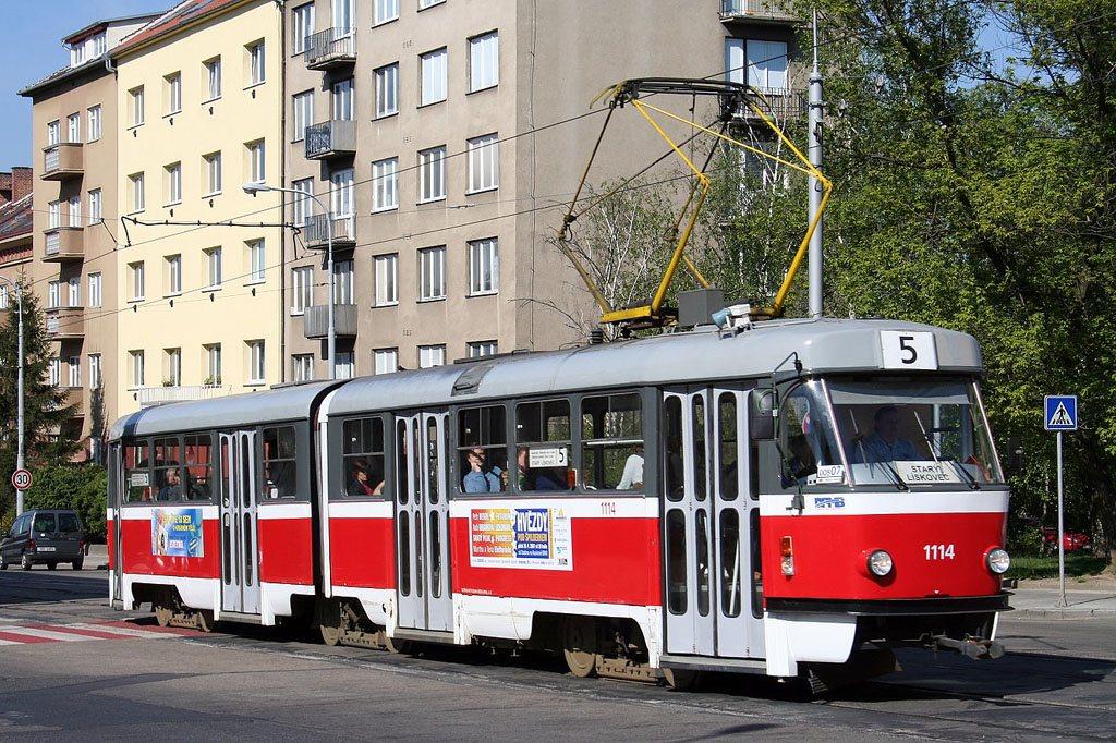 Fotogalerie » ČKD Tatra K2 1114 | Brno | Štýřice | Vídeňská