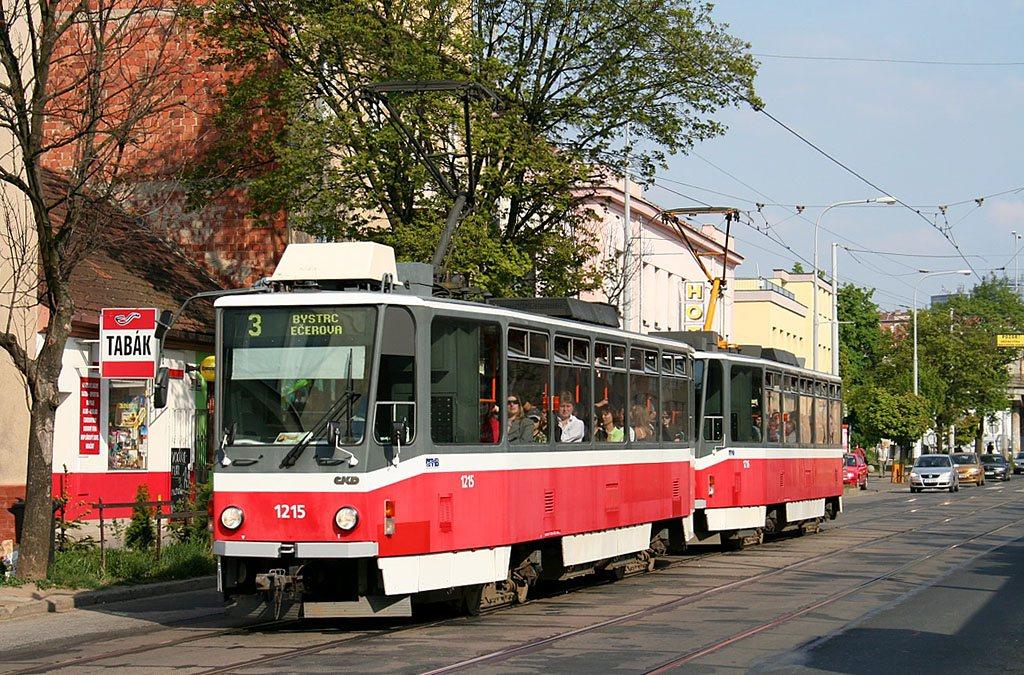Fotogalerie » ČKD DS T6A5 1215 | ČKD DS T6A5 1216 | Brno | Žabovřesky | Horova