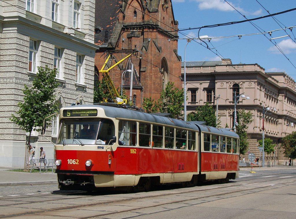 Fotogalerie » ČKD Tatra K2P 1062 | Brno | střed | Joštova | Komenského Náměstí
