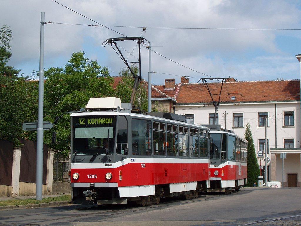 Fotogalerie » ČKD DS T6A5 1205   ČKD DS T6A5 1206   Brno   Veveří   Údolní