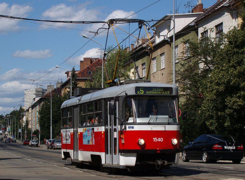 Fotogalerie » ČKD Tatra T3M 1540 | Brno | Černá Pole | Merhautova