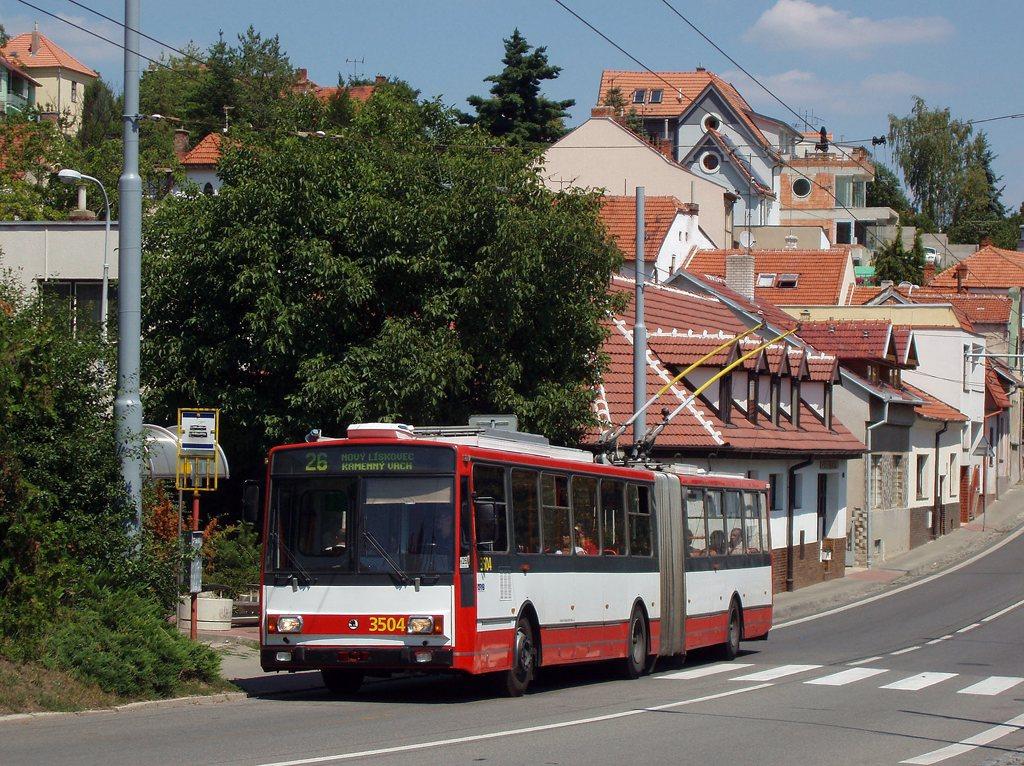 Fotogalerie » Škoda 15TrM 3504 | Brno | Nový Lískovec | Rybnická | Kluchova