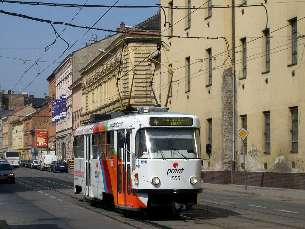 Fotogalerie » ČKD Tatra T3M 1555 | Brno | Zábrdovice | Cejl