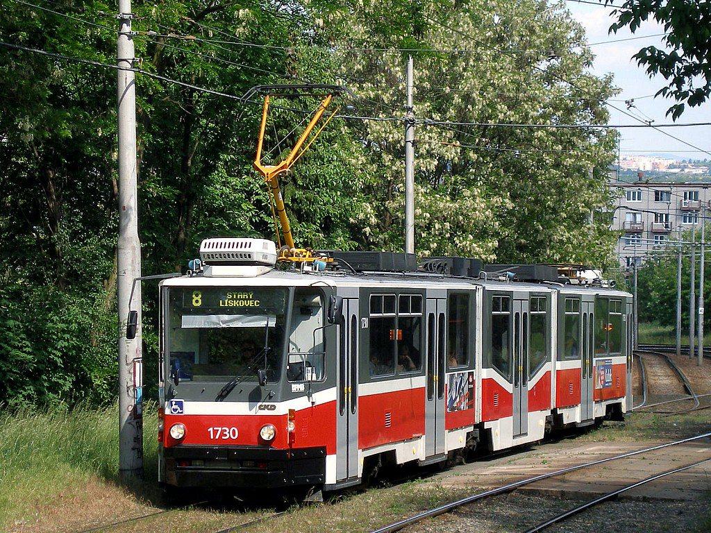 Fotogalerie » ČKD Tatra KT8D5N 1730 | Brno | Bohunice