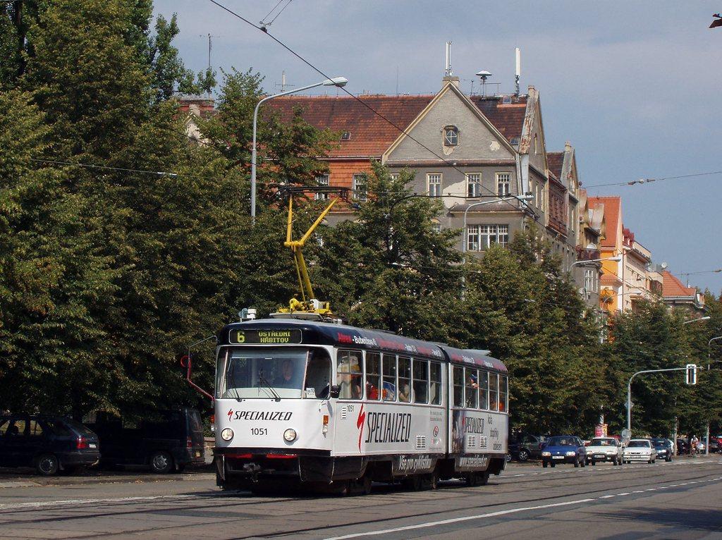 Fotogalerie » ČKD Tatra K2P 1051 | Brno | Ponava | Štefánikova