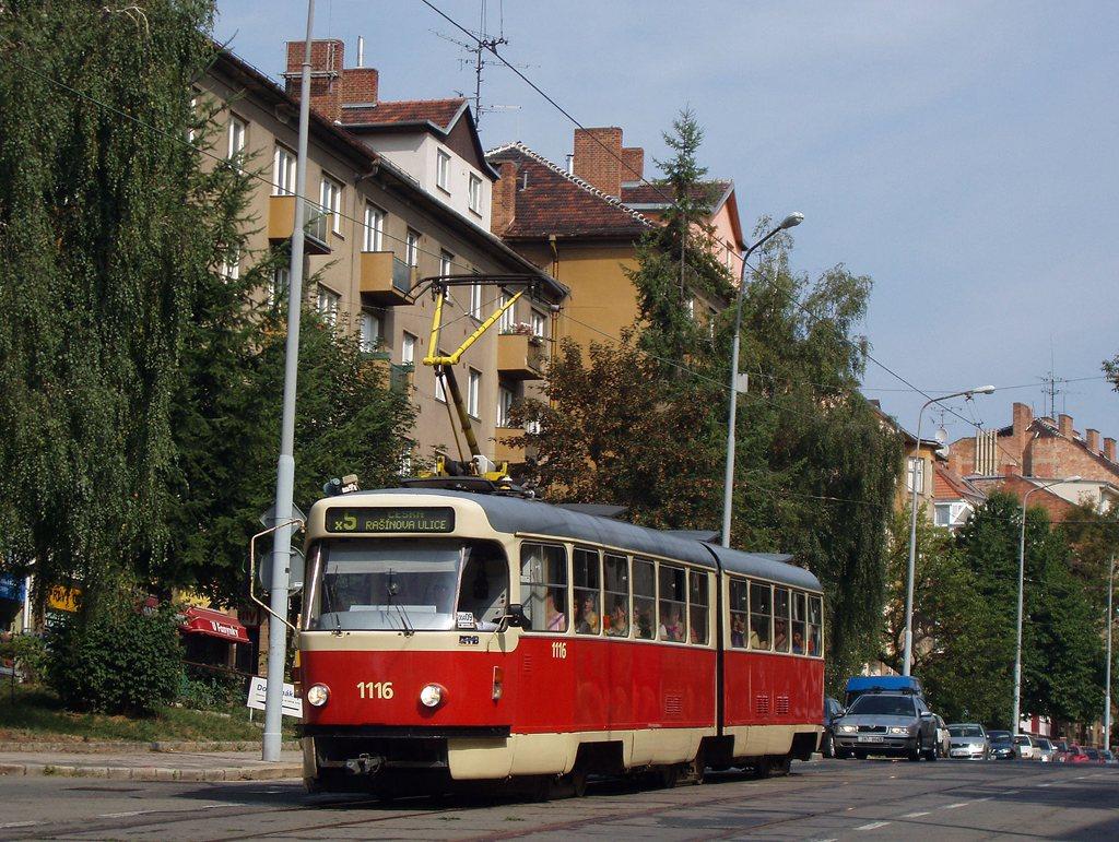 Fotogalerie » ČKD Tatra K2P 1116 | Brno | Černá Pole | Merhautova