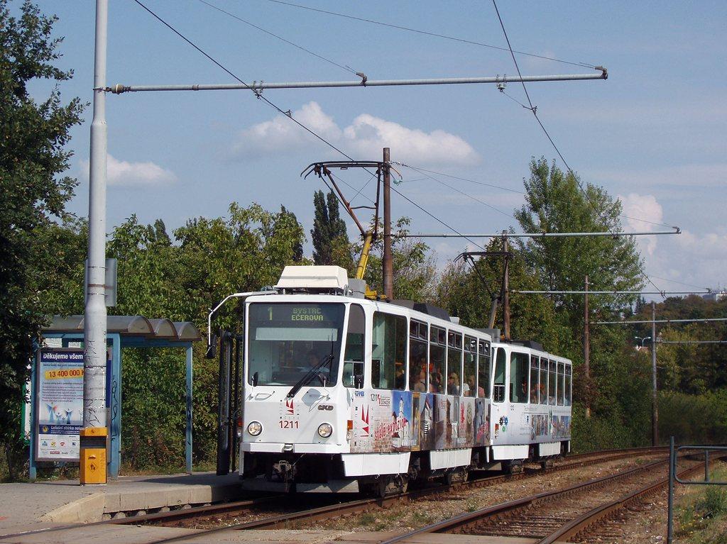 Fotogalerie » ČKD DS T6A5 1211 | ČKD DS T6A5 1212 | Brno | Žabovřesky | Kníničská | Stránského