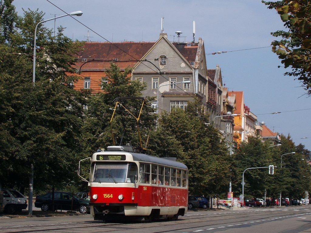Fotogalerie » ČKD Tatra T3P 1564 | Brno | Ponava | Štefánikova