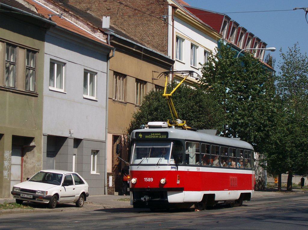 Fotogalerie » ČKD Tatra T3P 1589 | Brno | Husovice | Nováčkova