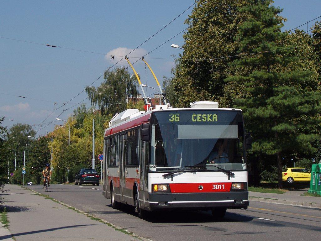 Fotogalerie » Škoda 21Tr 3011 | Brno | Žabovřesky | Zborovská | Spojovací