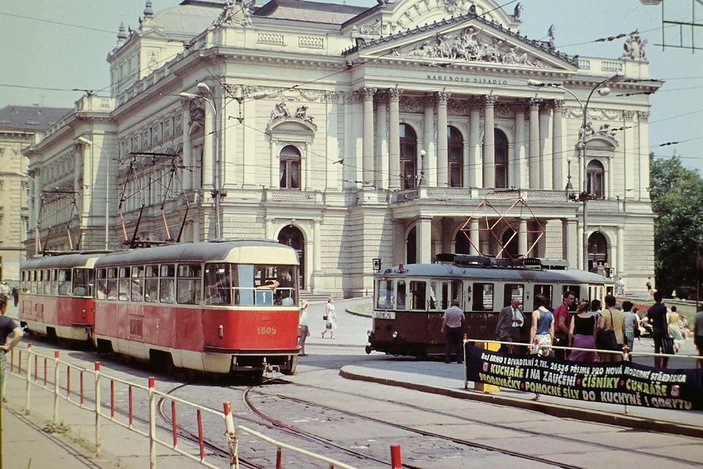 Fotogalerie » ČKD Tatra T3 1505 | KPS Brno + SBEPD mv6.2 99 | Brno | střed | Malinovského náměstí | Malinovského náměstí