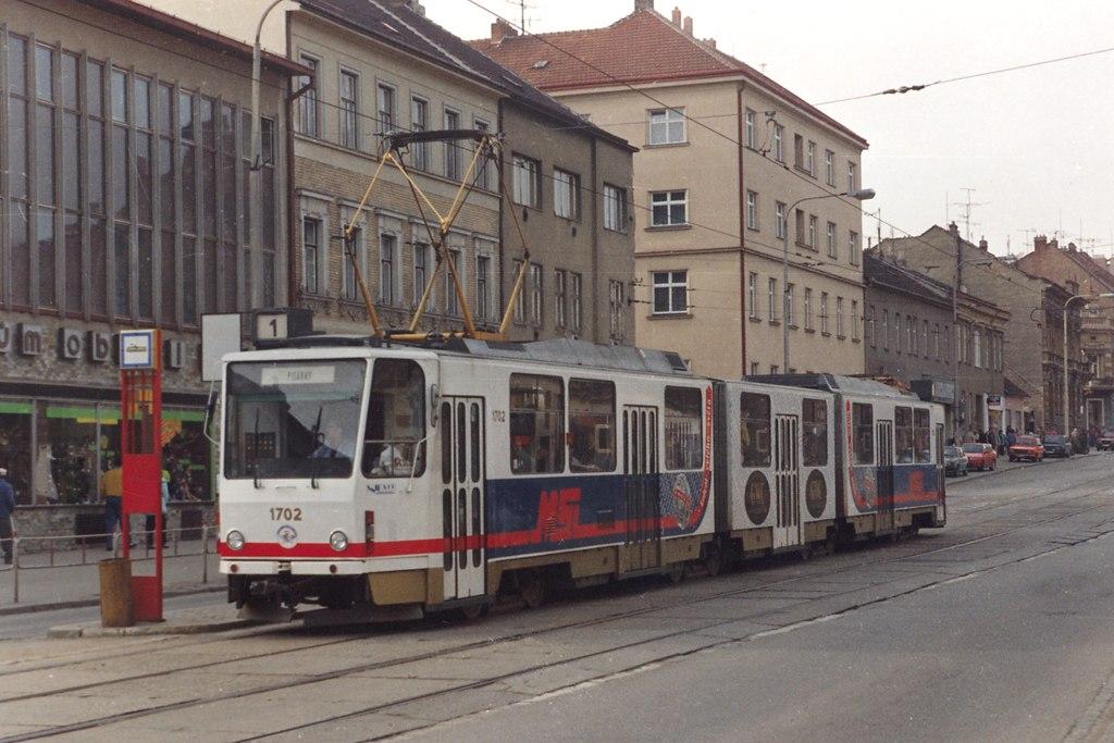 Fotogalerie » ČKD Tatra KT8D5 1702 | Brno | Královo Pole | Palackého | Jungmannova