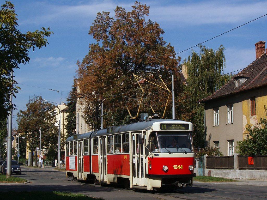 Fotogalerie » ČKD Tatra K2T 1044 | Brno | Černá Pole | Lesnická