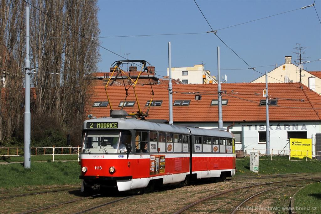 Fotogalerie » ČKD Tatra K2 1113 | Brno | Štýřice | Vídeňská