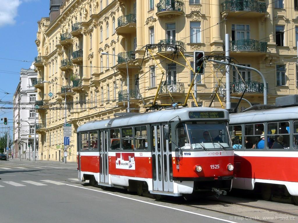 Fotogalerie » ČKD Tatra T3 1525 | Brno | střed | Veveří