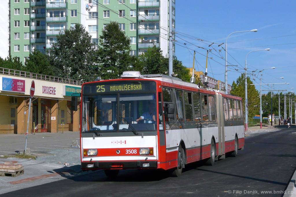Fotogalerie » Škoda 15TrM 3508   Brno   Vinohrady   Pálavské náměstí