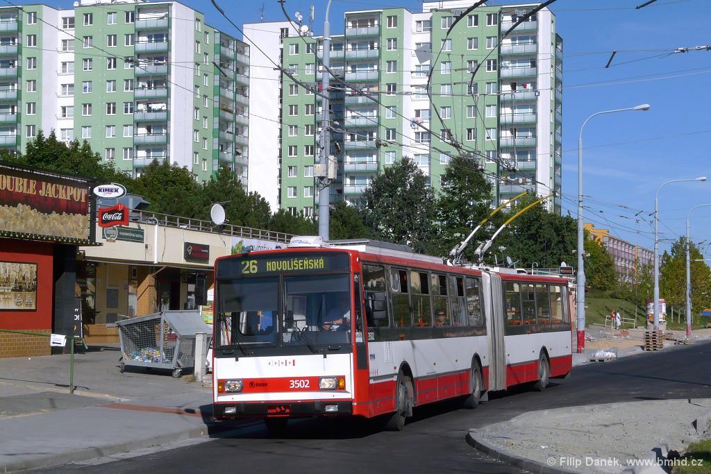 Fotogalerie » Škoda 15TrM 3502 | Brno | Vinohrady | Pálavské náměstí