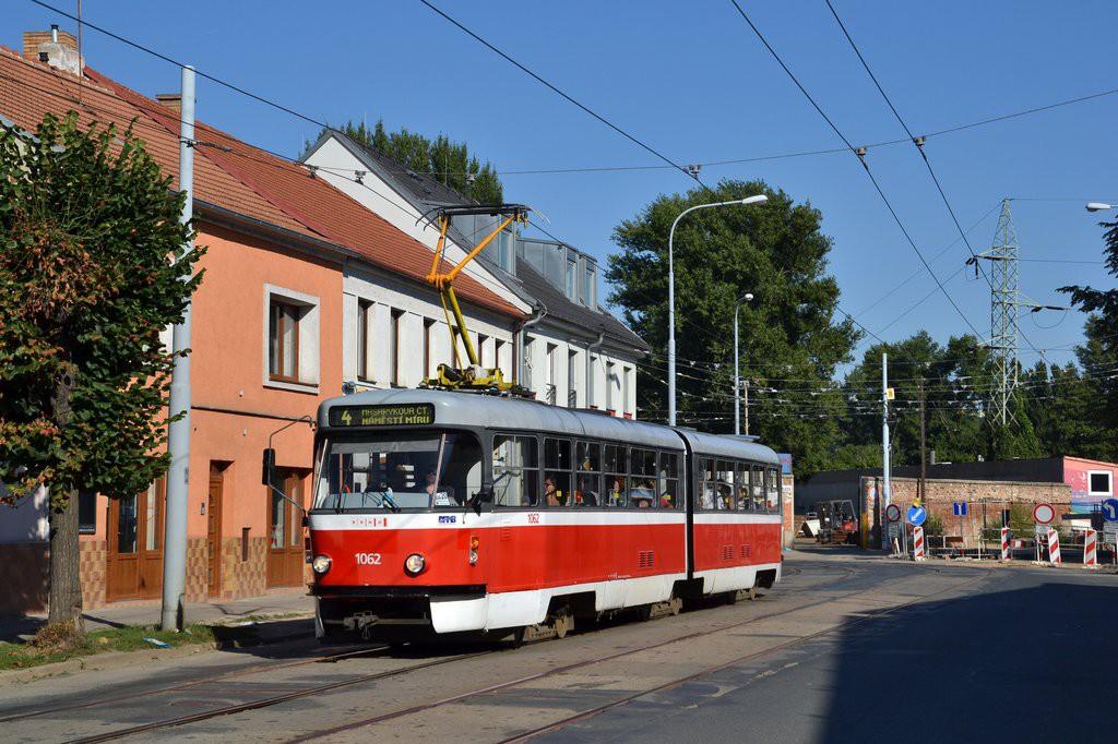 Fotogalerie » ČKD Tatra K2P 1062   Brno   Husovice   Dačického