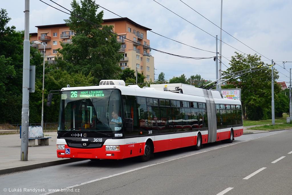 Fotogalerie » Škoda 31Tr 3618 | Brno | Líšeň | Novolíšeňská | Novolíšeňská