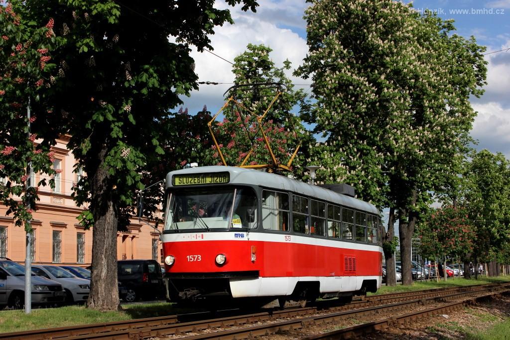 Fotogalerie » ČKD Tatra T3M 1573   Brno   Pisárky   Hlinky