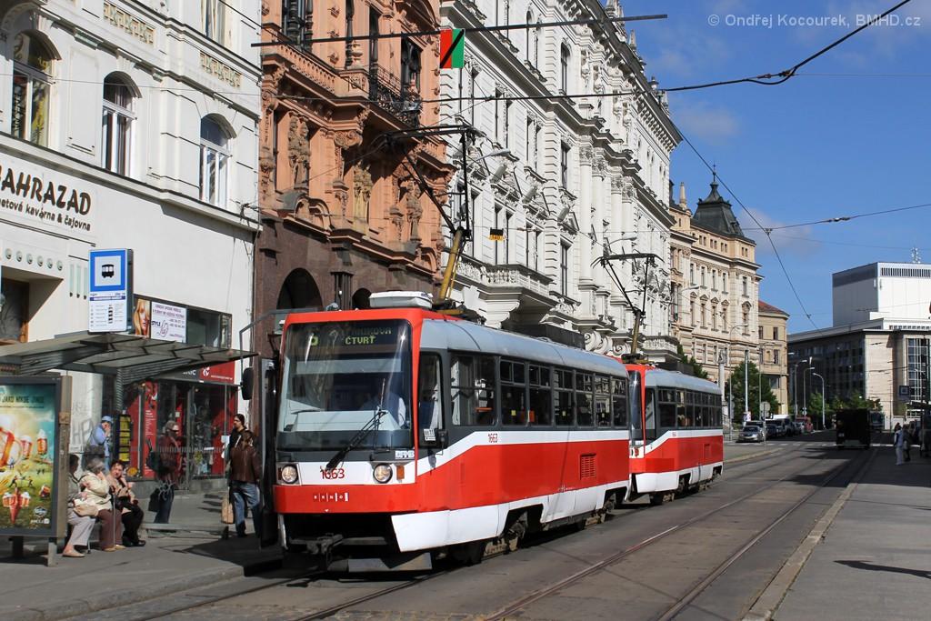 Fotogalerie » ČKD DS T3R 1663 | ČKD DS T3R 1664 | Brno | střed | Rooseveltova | Malinovského náměstí