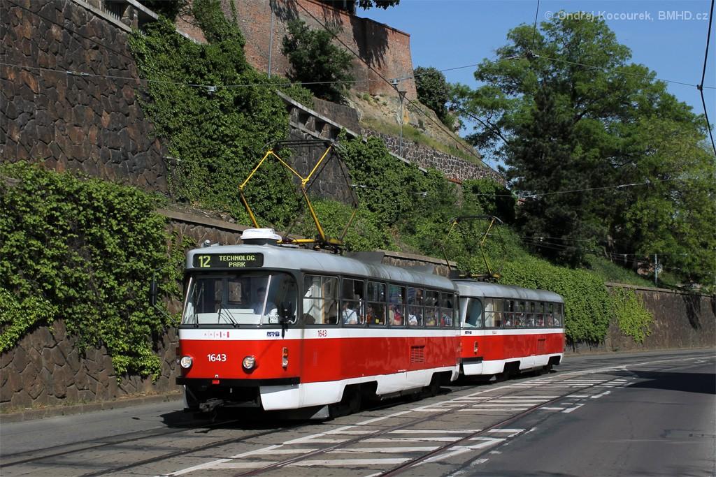Fotogalerie » ČKD Tatra T3G 1643 | ČKD Tatra T3G 1644 | Brno | střed | Husova