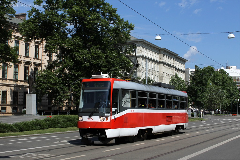 Fotogalerie » ČKD Tatra T3R 1615 | Brno | střed | Husova