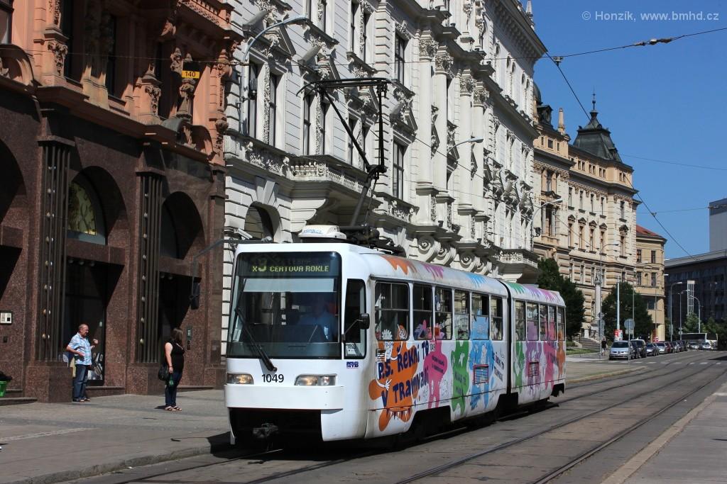 Fotogalerie » ČKD Tatra K2R03-P 1049 | Brno | střed | Rooseveltova