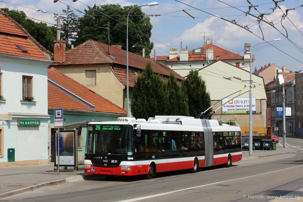 Fotogalerie » Škoda 31Tr 3631 | Brno | Pisárky | Hlinky | Výstaviště, hlavní vstup