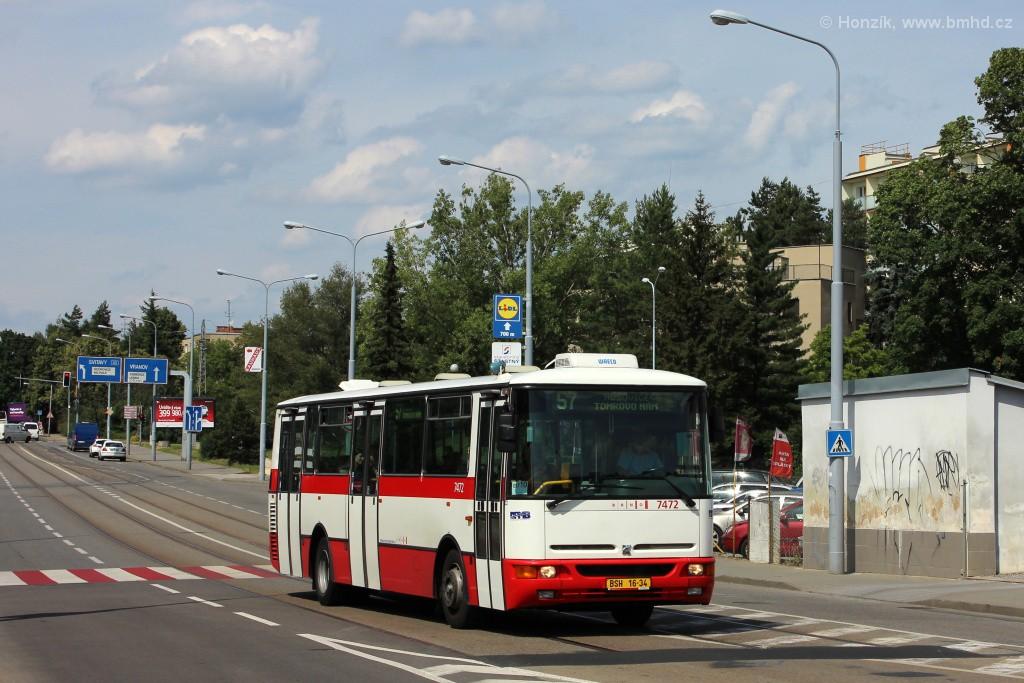 Fotogalerie » Karosa B931E.1707 BSH 16-34 7472 | Brno | Černá Pole | Merhautova