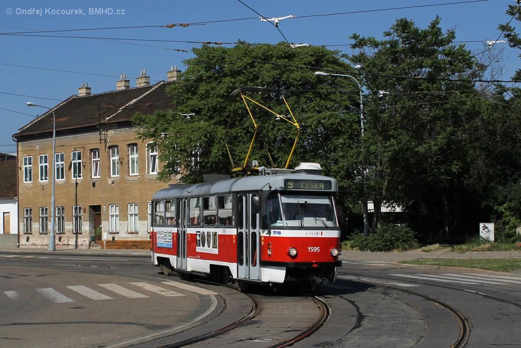 Fotogalerie » ČKD Tatra T3P 1595   Brno   Židenice   Životského